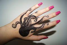 octopus hand tattoo