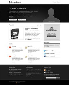 A business website should introduce their work and services in a professional way to create a reliable feeling for your visitors. Check out this premium wordpress theme to see how the designer makes it a pro one.