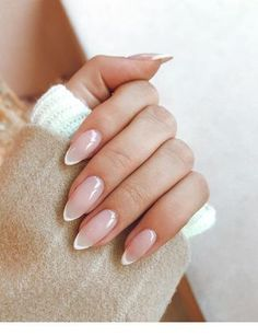 Classy Nails, Stylish Nails, Simple Nails, Classy Almond Nails, French Manicure Nails, French Tip Nails, Manicure Ideas, French Pedicure, Nail Ideas