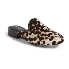 Women's Joie Delaney Slide Loafer (14.070 RUB) ❤ liked on Polyvore featuring shoes, loafers, snow leopard calf hair, leopard calf hair shoes, leopard print calf hair shoes, calf hair loafers, almond toe shoes and joie shoes
