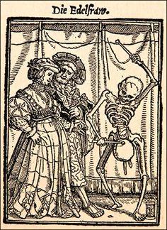 Edelfrau, Totentanz, Holbein