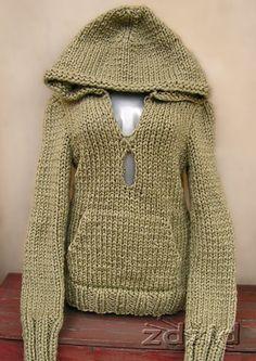 sweterki na drutach z kapturem - Szukaj w Google