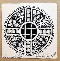 Alice Hendon, The Creator's Leaf, www.thecreatorsleaf.blogspot.com. mandala, zentangle