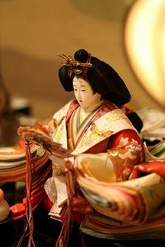 ひな人形 (Hina Ningyo) a doll displayed on the Girl's Festival (by Shingan Photography) ~Pinner's note, Girl's Day celebrated on the 3rd of March.