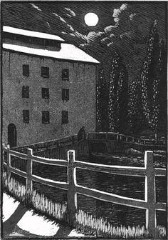 The Mill by Moonlight, Gwen Raverat