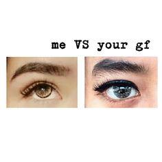 Me VS your gf eyebrow