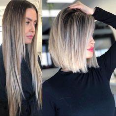 Medium Hair Cuts, Medium Hair Styles, Short Hair Styles, Medium Length Ombre Hair, Medium Haircuts For Women, Haircuts For Medium Length Hair, Short Blonde Haircuts, Medium Length Bobs, Medium Bob Hairstyles