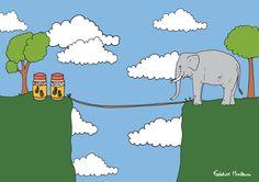 Sad Elephant by Federico Monzani