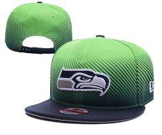 NFL Seattle Seahawks Green Snapback Hats--yd