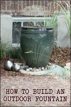 Learn how to build your own backyard fountain here!