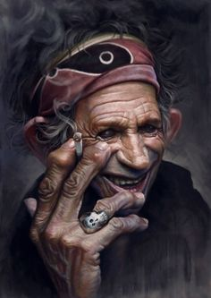 Keith Richards caricature by Hoisel Funny Caricatures, Celebrity Caricatures, Keith Richards, Rock Poster, Digital Art Gallery, Photoshop, The Rolling Stones, Photorealism, Funny Faces