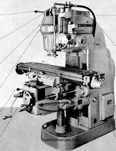 Cincinnati Nos. 2ML, 2MI & 3MI Milling Machines Model OM Service & Parts Manual