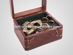 Brass Marine Sextant for sale with wooden Box