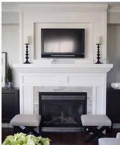 Eye-Opening Tricks: Fireplace And Mantels Cabinets fireplace illustration william morris.Tv Over Fireplace Stone gas fireplace remodel. Home Fireplace, Home And Living, Home Living Room, Home, Family Room, Fireplace Surrounds, Living Room With Fireplace, Home Decor, Simple Fireplace