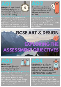 GCSE art assessment objectives - poster / display *** student resources and support