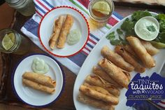 Tiny Taquitos w/ Avocado Cilantro Sauce from @Shutterbean in honor of @WithStyleGrace
