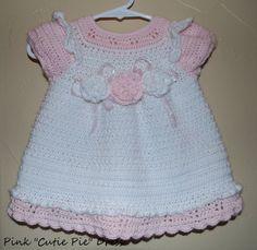 Vestido de Crochet de Cutie Pie rosa para niña 12 por MyGreatEscape