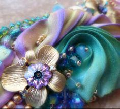 DETAILS from Spring Collection 2014 (work in progress) Shibori Silk - bead embroidery - soutache Design by Serena Di Mercione