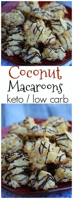 coconut macaroons collage