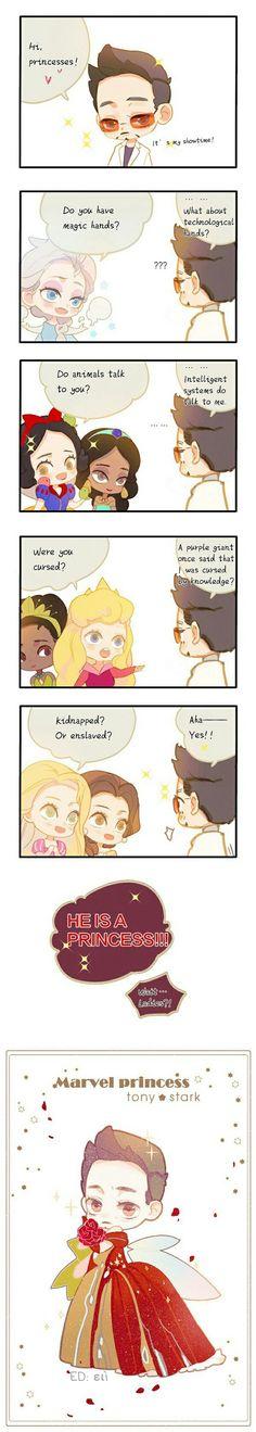 Tony & The Disney Princess || Iron-Man || Ralph Breaks The Internet || Cr: RDJlock