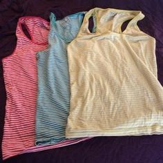 I just added this to my closet on Poshmark: Bundle 3 piece racerback tanks. Price: $8 Size: XL