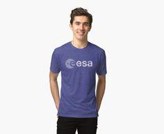 «European Space Agency Emblem Vintage White» de Lidra