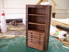 Miniature cupboard - step by step illustrate tutorial
