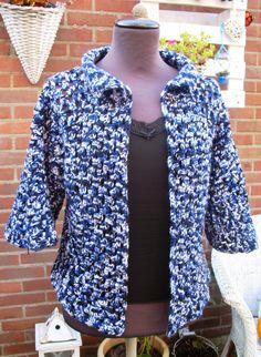 Crochet Jacket, Crochet Cardigan, Crochet Granny, Crochet Clothes, Crochet Projects, Shirt Dress, Knitting, Sweaters, Mens Tops