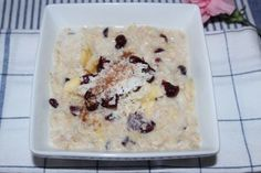 The best banana cranberry oatmeal