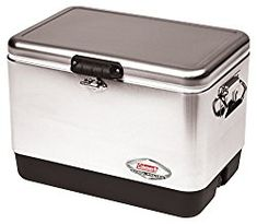 Coleman Cooler Ice Chest Stainless Steel 54 Quart Outdoor Camping Picnic Party for sale online