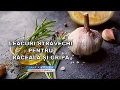 LEACURI STRAVECHI PENTRU RACEALA SI GRIPA - YouTube Garlic, Vegetables, Youtube, Food, Essen, Vegetable Recipes, Meals, Youtubers, Yemek