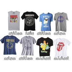 """5sos t-shirts - exact"" by kmgirlkk on Polyvore"