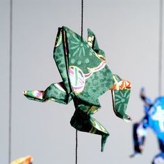 Froggy origami mobiles and other origami at the link.