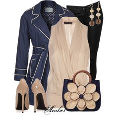 Navy & Beige by stay-at-home-mom on Polyvore