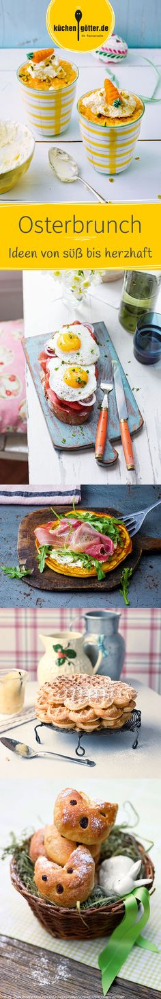 Bald ist wieder Ostern und damit  die Zeit für einen ausgiebigen Osterbrunch mit Kuchen, Waffeln, Ei und mehr. Wir haben für euch inspirierende Rezept-Ideen zusammengestellt, mit welchen ihr eure Ostertafel decken könnt.