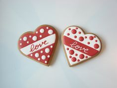 55 Ideas For Cake Decorating Wedding Sugar Cookies food recipes Valentine's Day Sugar Cookies, Fancy Cookies, Heart Cookies, Iced Cookies, Royal Icing Cookies, Cake Cookies, Valentines Day Cookies, Valentine Cookies, Birthday Cookies