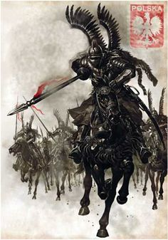 Polish King Jan III Sobieski and his Winged Hussars defeat the Ottoman Empire with the largest cavalry charge in history Patriotische Tattoos, Polish Tattoos, Tatoos, Military Art, Military History, Death Korps Of Krieg, Poland History, Landsknecht, Knights Templar