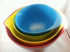 4 Piece Mixing Bowl Set Melamine Rubber Grip Base Cooks in Home & Garden, Kitchen, Dining & Bar, Kitchen Tools & Gadgets | eBay