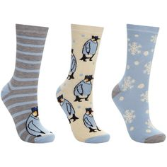 John Lewis Penguin Jumpers Ankle Socks, Pack of 3, Snow Blue/Multi (€7,75) ❤ liked on Polyvore featuring intimates, hosiery, socks, stripe socks, john lewis hosiery, striped ankle socks, patterned hosiery and blue striped socks