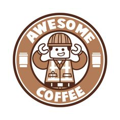Shop Awesome Coffee lego t-shirts designed by as well as other lego merchandise at TeePublic. Coffee Logo, Coffee Branding, Coffee Humor, My Coffee, Coffee Cafe, Espresso Coffee, Starbucks Art, Disney Starbucks, Starbucks Coffee
