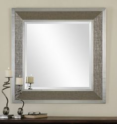 RBG Home Store - Naevius, Silver Square Wall Mirror, $393.00 (http://www.rbghomestore.com/naevius-silver-square-wall-mirror/)