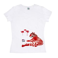 red tiger.  t-shirt to collect.