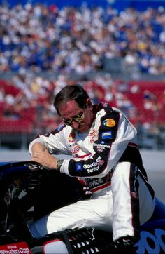 7 Feb 1999: Driver Dale Earnhardt #3 getting out of his car during the Daytona 500 Speedweek at the Daytona International Speedway in Daytona, Florida.