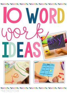 10 Word Work Ideas | The Sassy Sub Are you looking for a fun, engaging variety of activities for word work? Check out this post for FREE and CHEAP ideas for your word work center!
