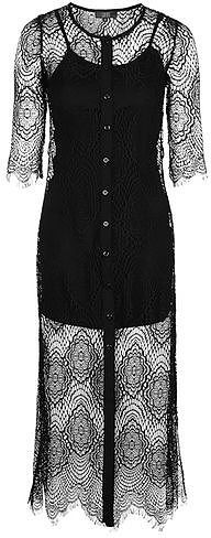 Womens black karley morocco tile lace dress by goldie from Topshop - £56 at ClothingByColour.com