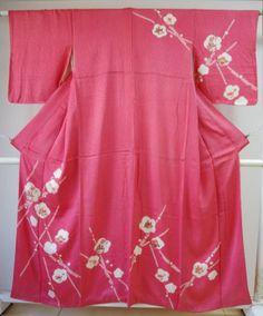 Kimono Dress Japan Geisha Kimono robe Japanese costume used Vintage KDJM-0018
