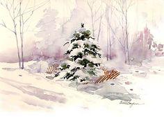 Brighten Your Winter Watercolor Landscape by Mary,Ann,Boysen - Watercolor lesson- Brighten,Your,Winter,Watercolor,Landscape,Mary,Ann,Boysen,Free Tutorials Network.shijieminghua.com