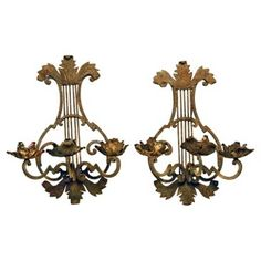 Check out this item at One Kings Lane! French Wall Candlelabra, Pair