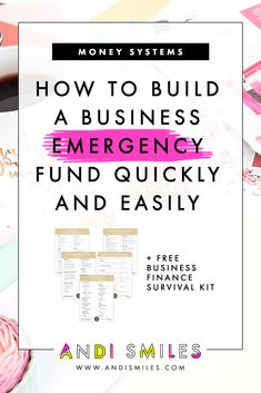 A business savings and business emergency fund are crucial for ensuring a long, happy life for your business. Learn how to quickly build your business savings once and for all. Small Business Accounting, Business Tips, Online Business, Business Money, Business Funding, Business Coaching, Etsy Business, Financial Organization, Business Organization