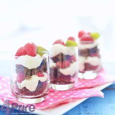 Raspberry brownie tiramisu